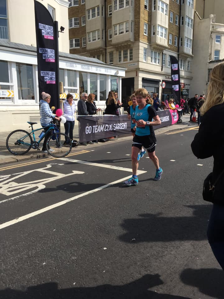Brighton Marathon Christine Costiff Gill O'Connor