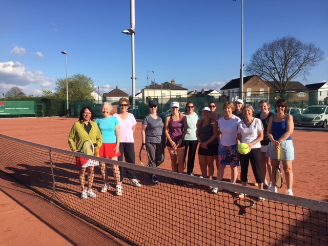 Ladies Tennis Group At Ashford Tennis Club