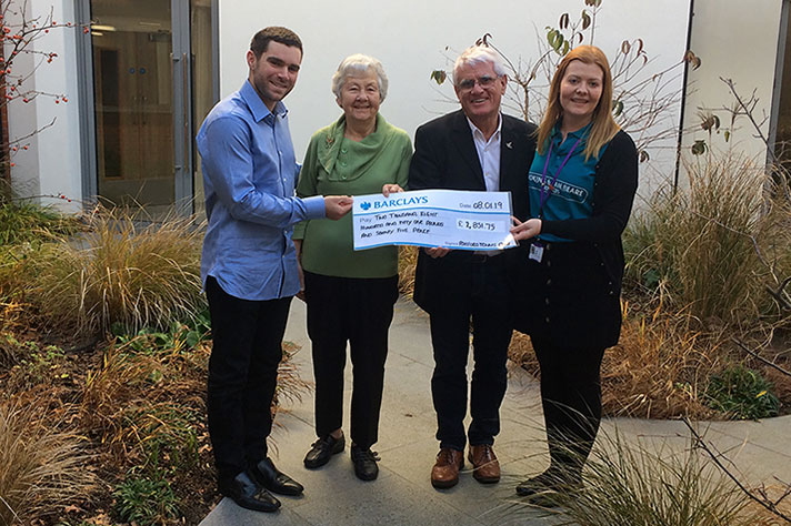 Presentation Of Cheque To The Sam Beare Hospice