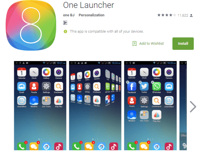 iOS launcher for Android