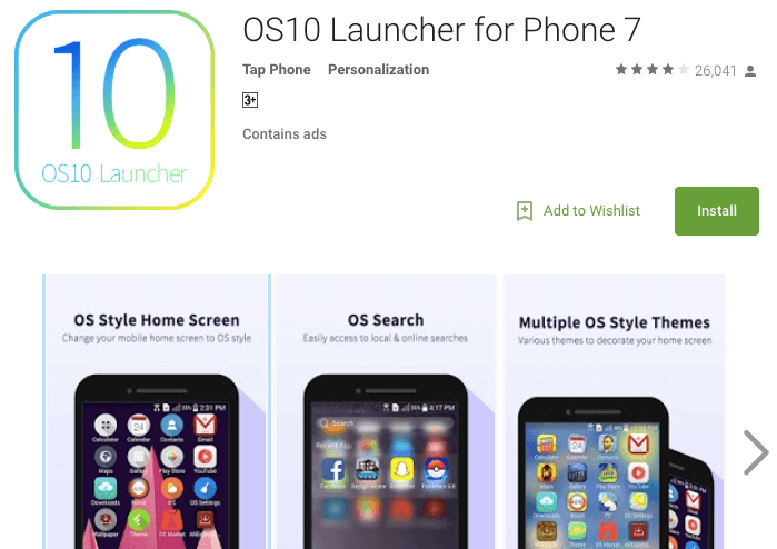 os 10 launcher for android