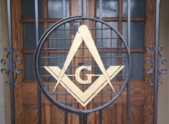Ashlar Masonic Temple entrance gate