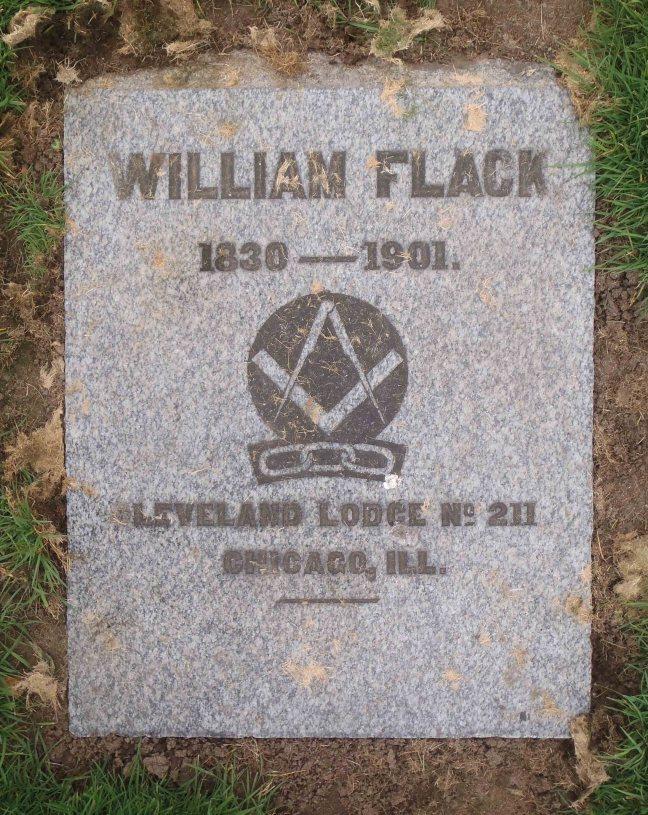 William Flack gravestone, Bowen Road Cemetery, Nanaimo, B.C.