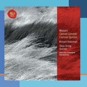 CD cover, Mozart - Clarinet Concerto & Clarinet Quintet, Richard Stoltzman, RCA Records