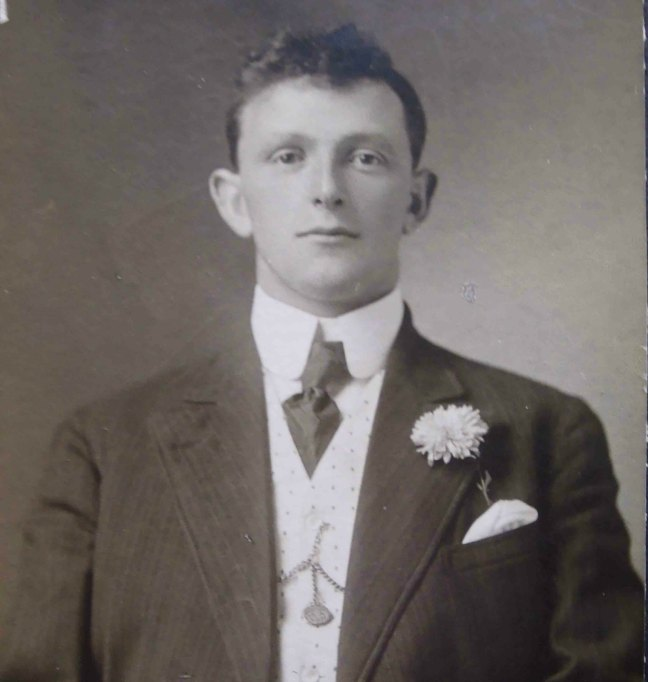 Robert Malone, Worshipful Master of Ashlar Lodge in 1941. This photograph appears to be circa 1915-20