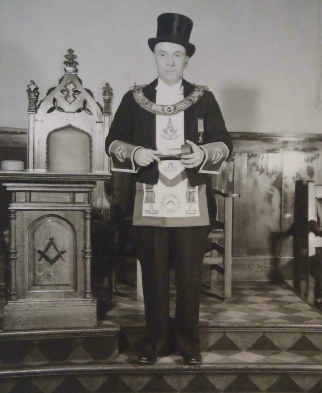 Francis Rowbottom, Worshipful Master of Ashlar Lodge, No.3 in 1954