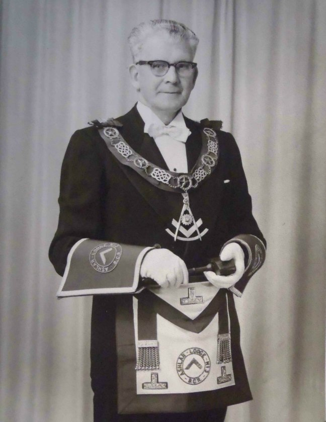 James Johnstone, Worshipful Master of Ashlar Lodge, No.3 in 1952