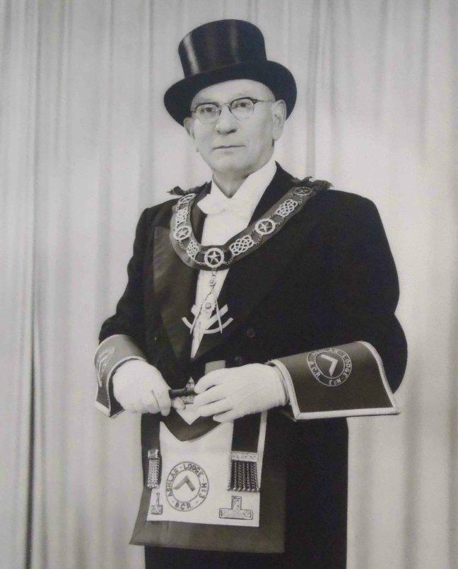 John Gorosh Sr., Worshipful Master of Ashlar Lodge, No.3 in 1959
