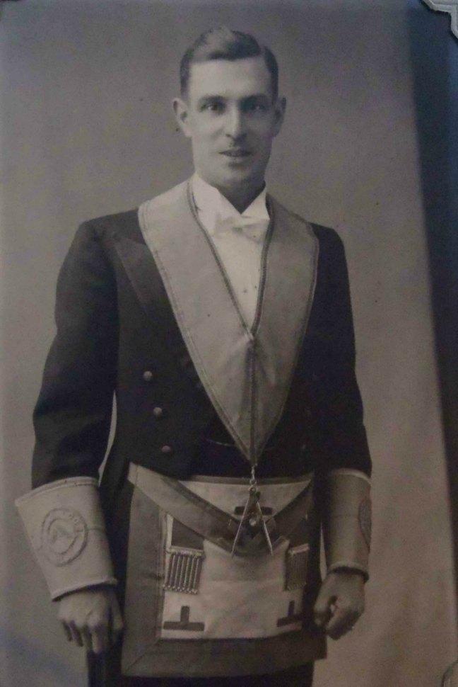 John Murdoch, Worshipful Master of Ashlar Lodge, No.3 in 1936