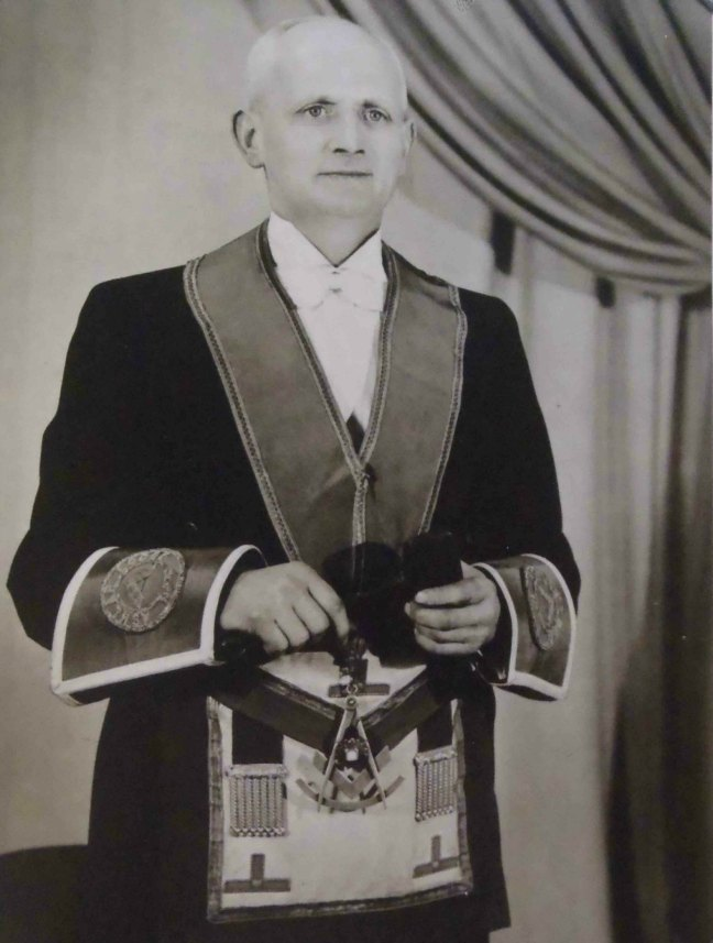 Thomas Russell, Worshipful Master of Ashlar Lodge, No.3 in 1943