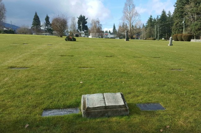Grave of Captain Arthur Yates and Albert Yates, Bowen Road Cemetery, Nanaimo, B.C.