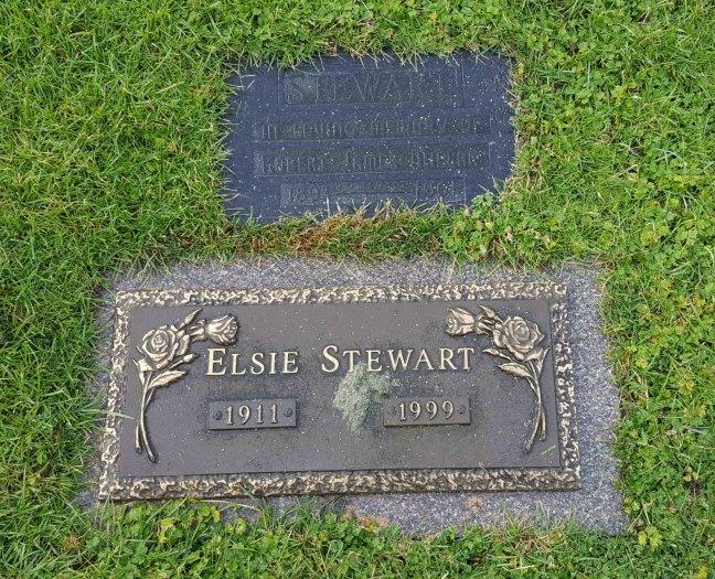 Robert J.M. Stewart grave marker, Bowen Road Cemetery, Nanaimo, B.C.