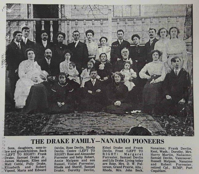 Samuel Drake and family, circa 1910
