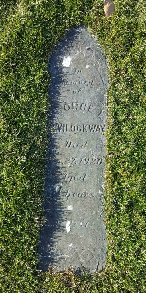 George Bevilockway grave marker, Bowen Road cemetery, Nanaimo, B.C.
