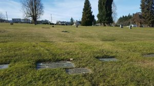 The grave marker of Harold Good in Bowen Road Cemetery, Nanaimo, B.C.