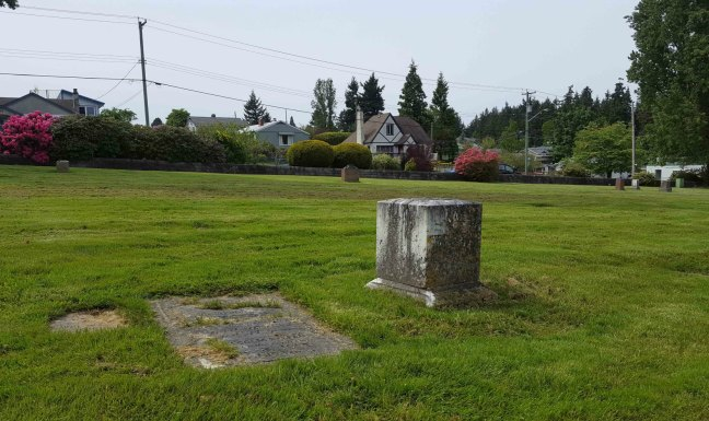 Bowen Road Cemetery, Nanaimo, B.C. Both men died in the Esplanade No. 1 mine explosion on 3 May 1887. (photo by Ashlar Lodge No. 3 Historian)