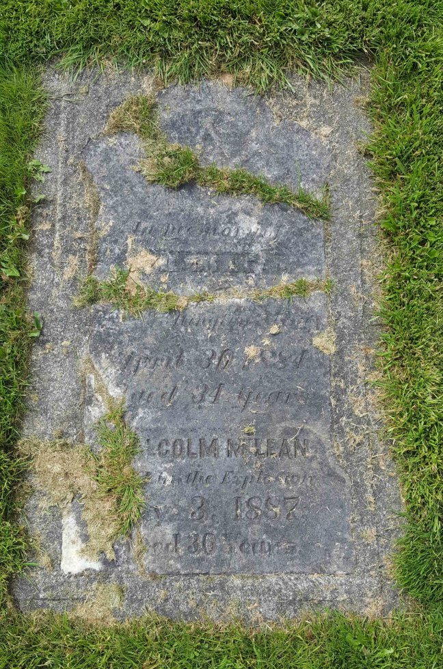 Malcolm McLean grave marker, Bowen Road Cemetery, Nanaimo, B.C. (photo by Ashlar Lodge No. 3 Historian)