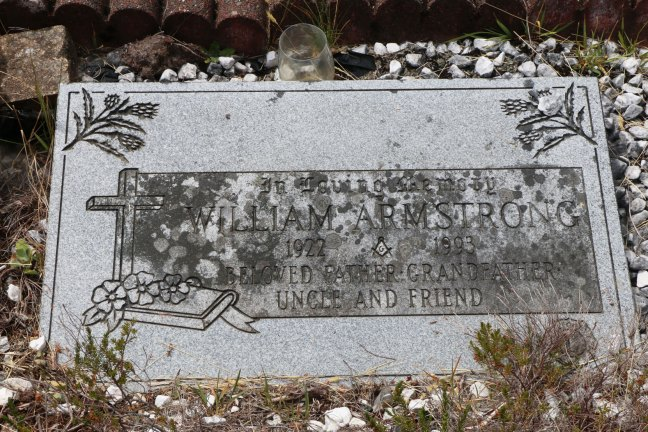 William Armstrong grave, Cumberland Cemetery, Cumberland, B.C. (photo: Ashlar Lodge No. 3 Historian)