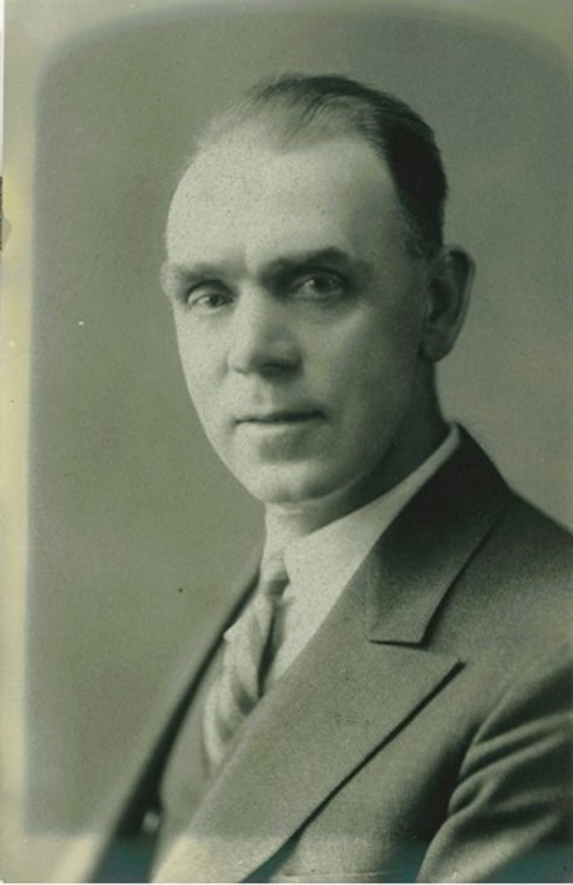 John Barsby as Mayor of Nanaimo , circa 1932-1937 (photo courtesy of Donald Boudot - private collection)