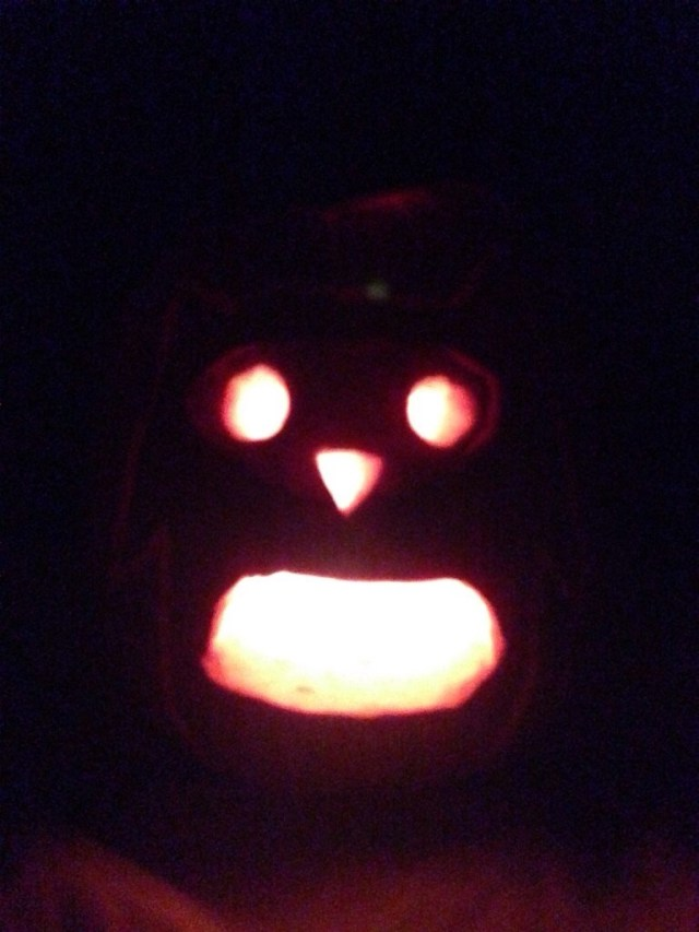 Owl Halloween Pumpkin by Ashlee Craft
