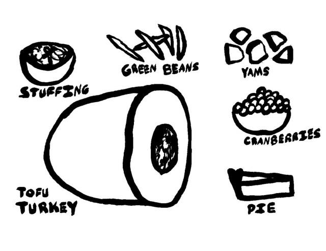 Tofu Turkey & Vegetarian Thanksgiving Food - Thanksgiving Coloring Pages // ashleecraft.com