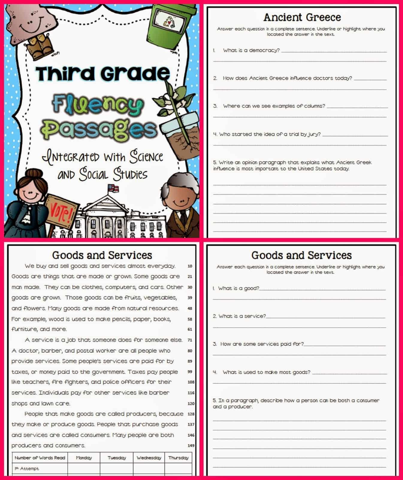 Reading Fluency Passages For 3rd Grade