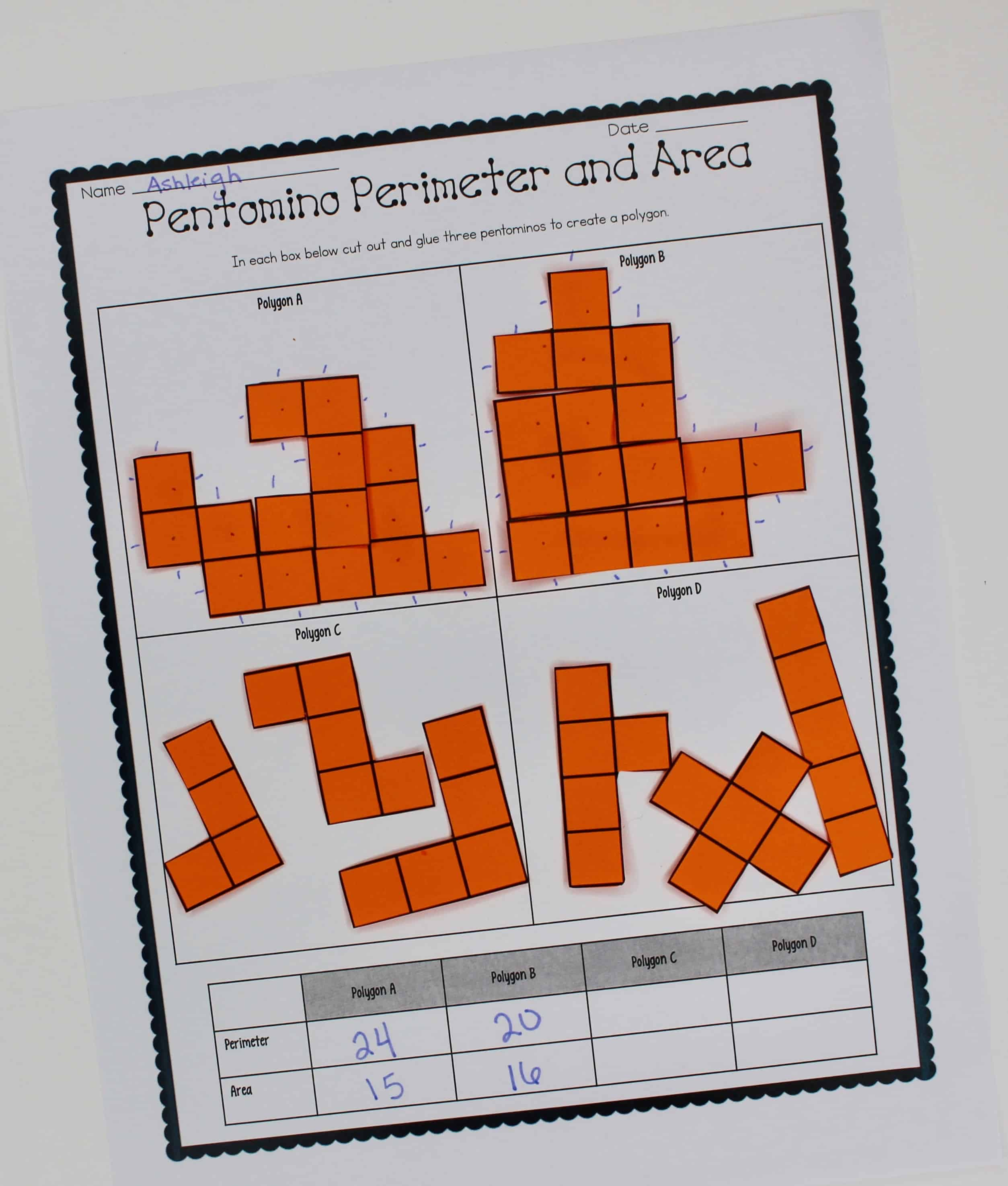 Area And Perimeter Activity Worksheet