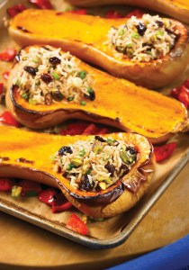 Persian Rice-Stuffed Butternut Squash (Sheet Pan Meals)
