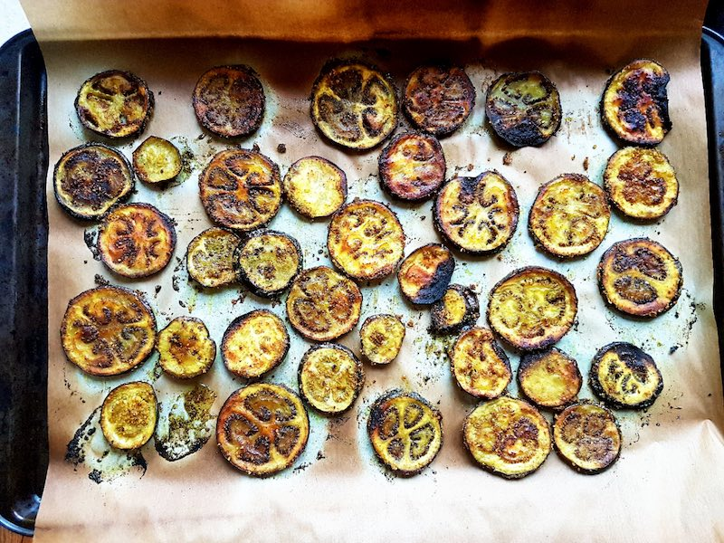 Roasted Curried Eggplant Chips