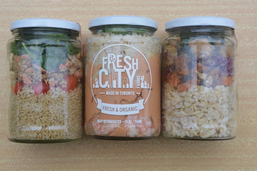 My custom Fresh Meals Bag: Pesto Salmon & Quinoa, Masaman Curry Shrimp, and Tempeh Buddha Bowl