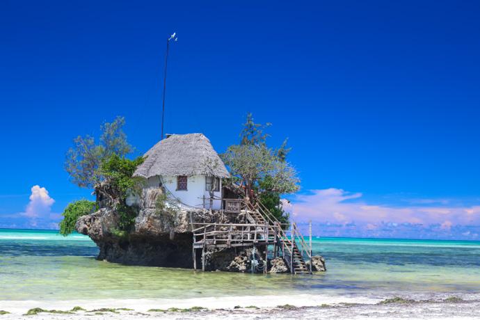 Lunch at The Rock Restaurant on Zanzibar