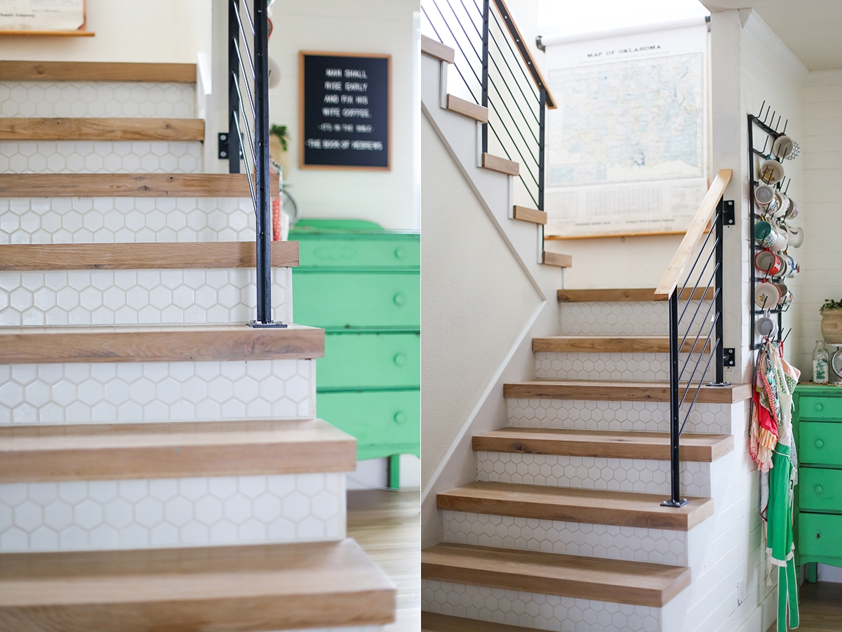 Tile Steel Our Stairs » Ashleyannphotography Com   Wood And Tile Stairs   Rocell Living Room   Tile Floor   Basement   Quarter Round Stair Hardwood   White