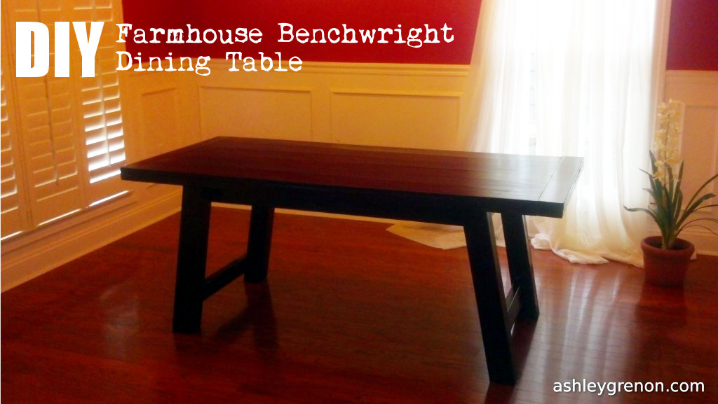 Diy Benchwright Farmhouse Table Plans By Ana White Handmade With Ashley