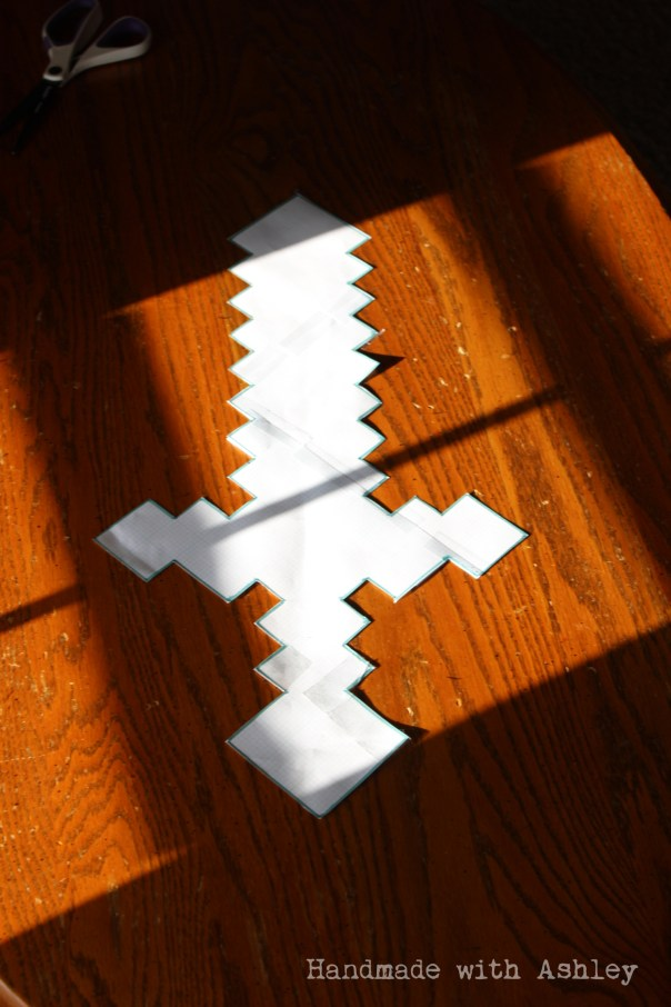 Sword pattern cut out