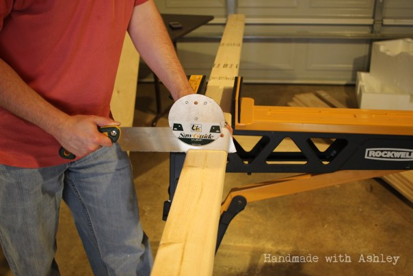Japanese handsaw and guide