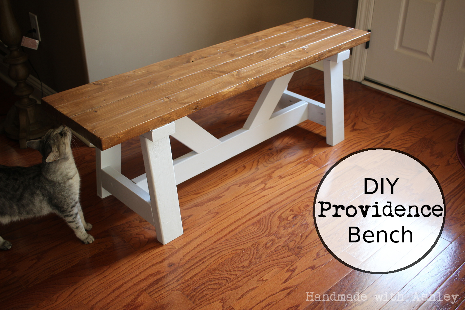 DIY Providence Bench (Plans by Ana White) - Handmade with ...