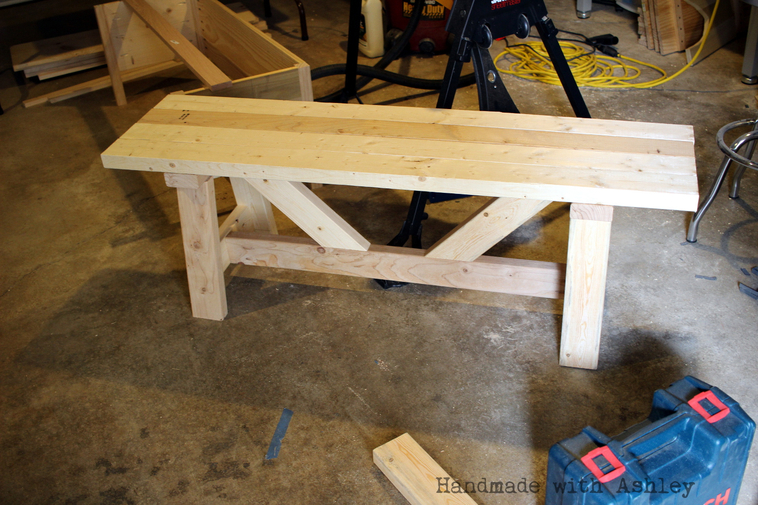 Diy providence bench plans by ana white handmade with ashley ready to be stained and painted keyboard keysfo Images