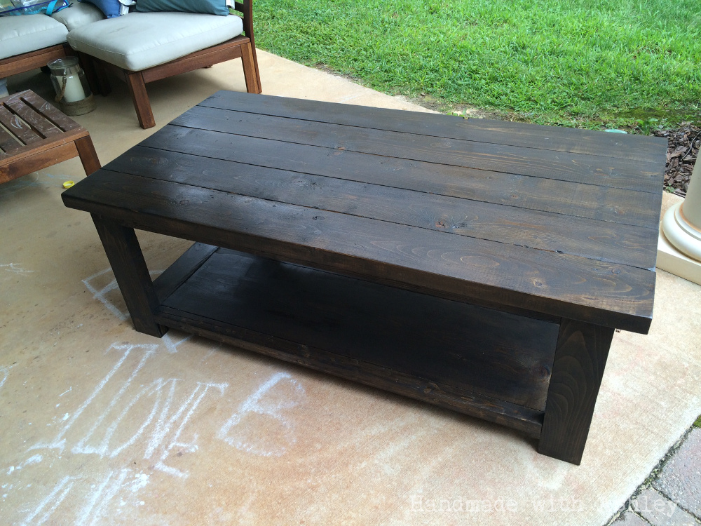 DIY Rustic X Coffee Table (Plans by Ana White) - Handmade ... on Coffee Table Plans  id=77720