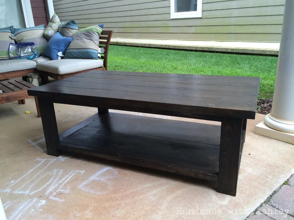 DIY Rustic X Coffee Table (Plans by Ana White) - Handmade ... on Coffee Table Plans  id=29247