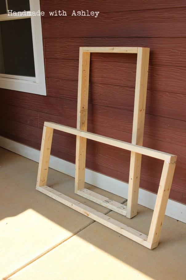 Cornhole board frames are complete!