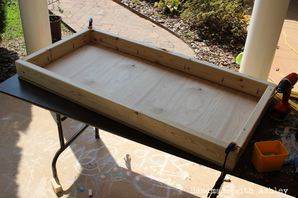 Attaching plywood to the frame