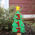 Christmas tree address sign