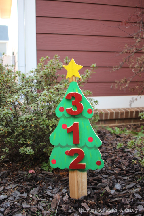 Christmas tree address sign