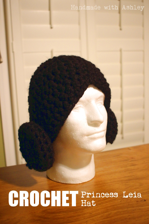 Crochet Princess Leia Hat Handmade With Ashley