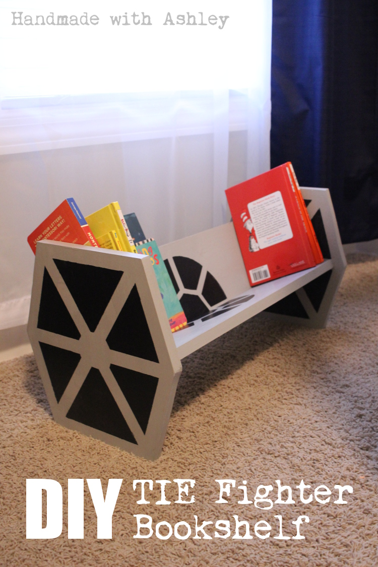 Build a Star Wars TIE Fighter Bookshelf