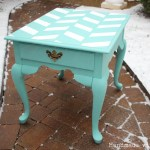 Herringbone end table makeover