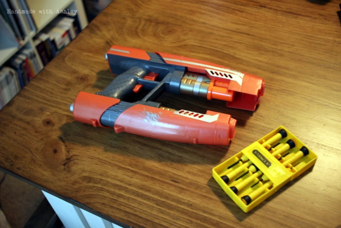 You'll need a jewelers precision screwdrive set to disassemble the nerf gun