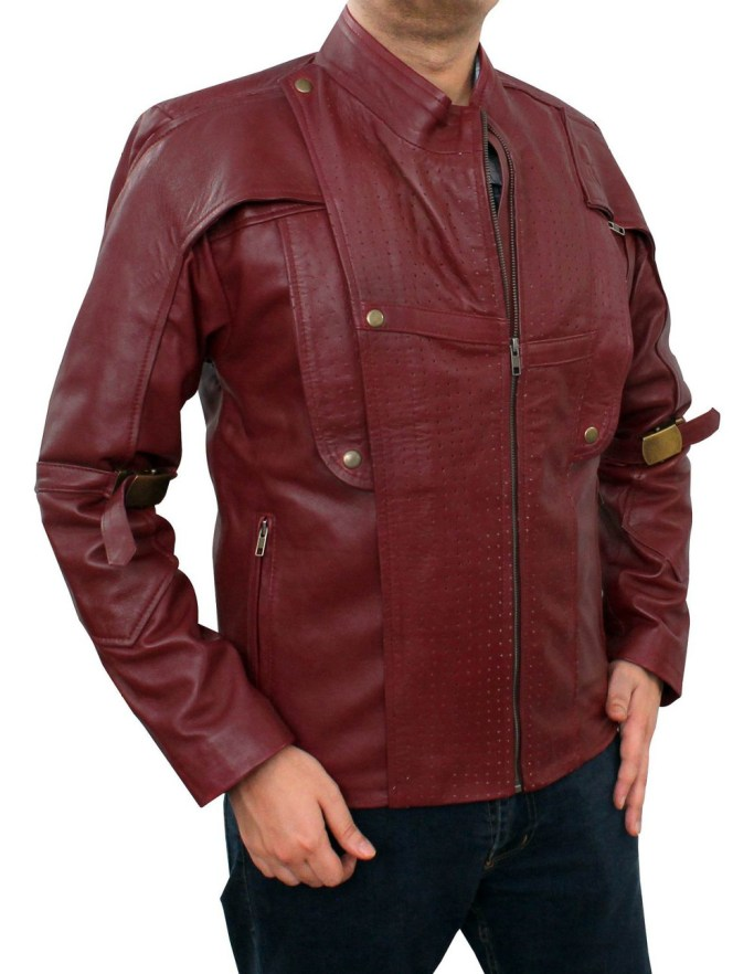 Red Galaxy Leather Jacket