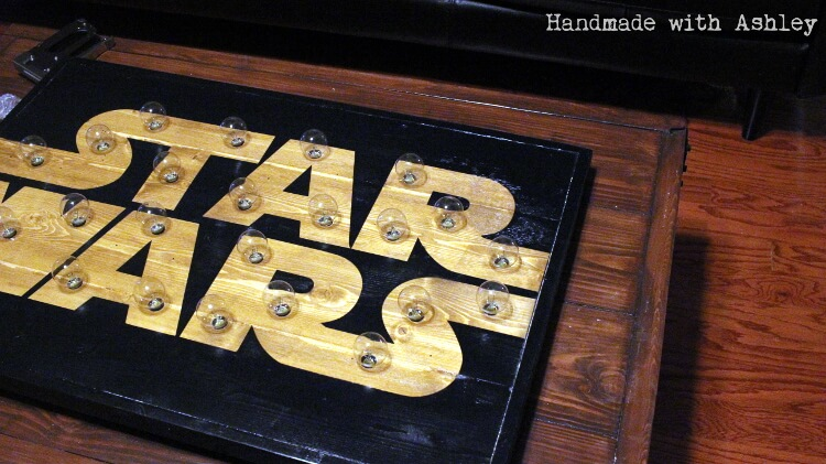 DIY Star Wars Marquee Wall Art Tutorial - Handmade with Ashley