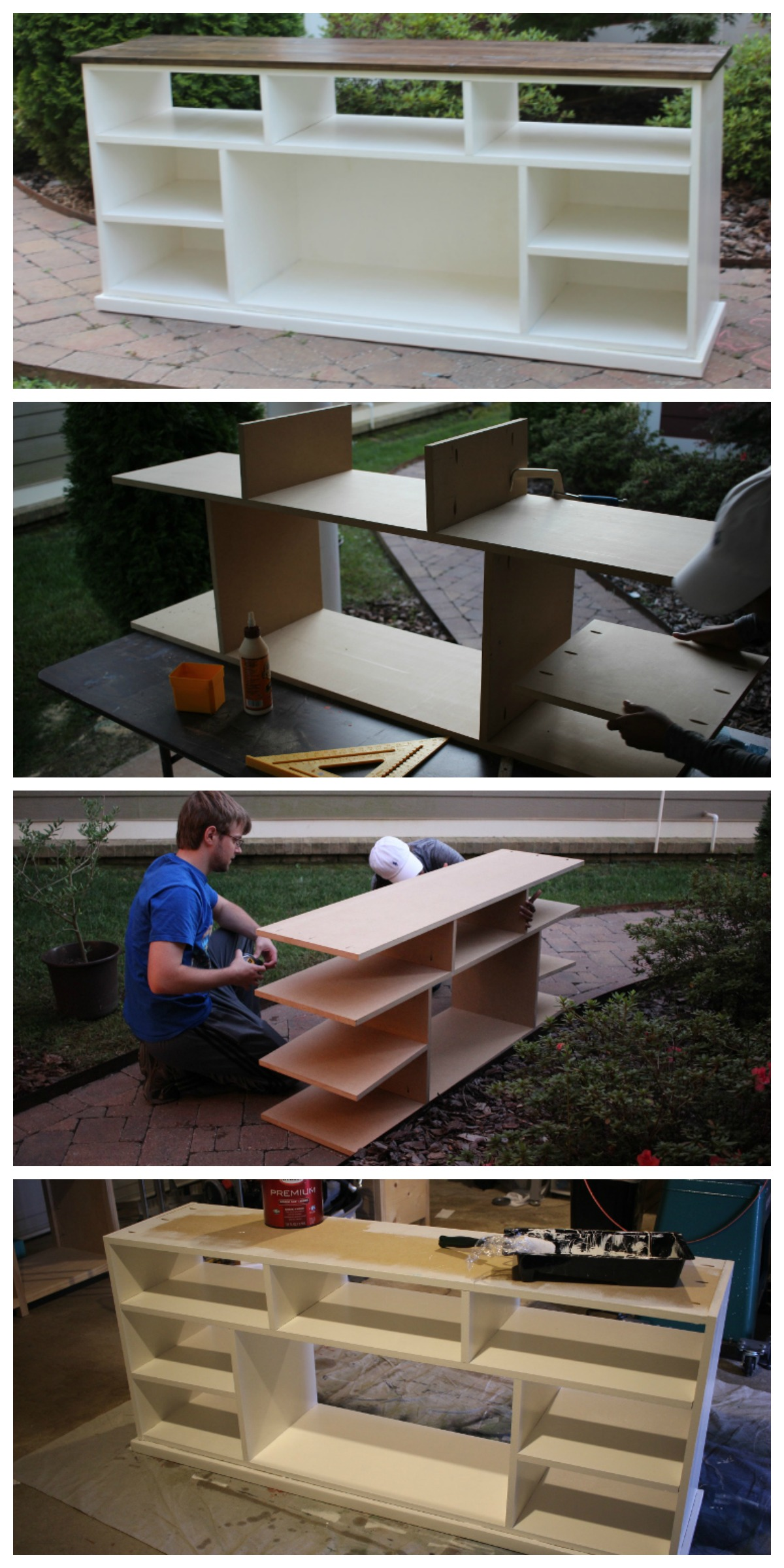 Diy apothecary console plans by ana white handmade for Diy tv table plans